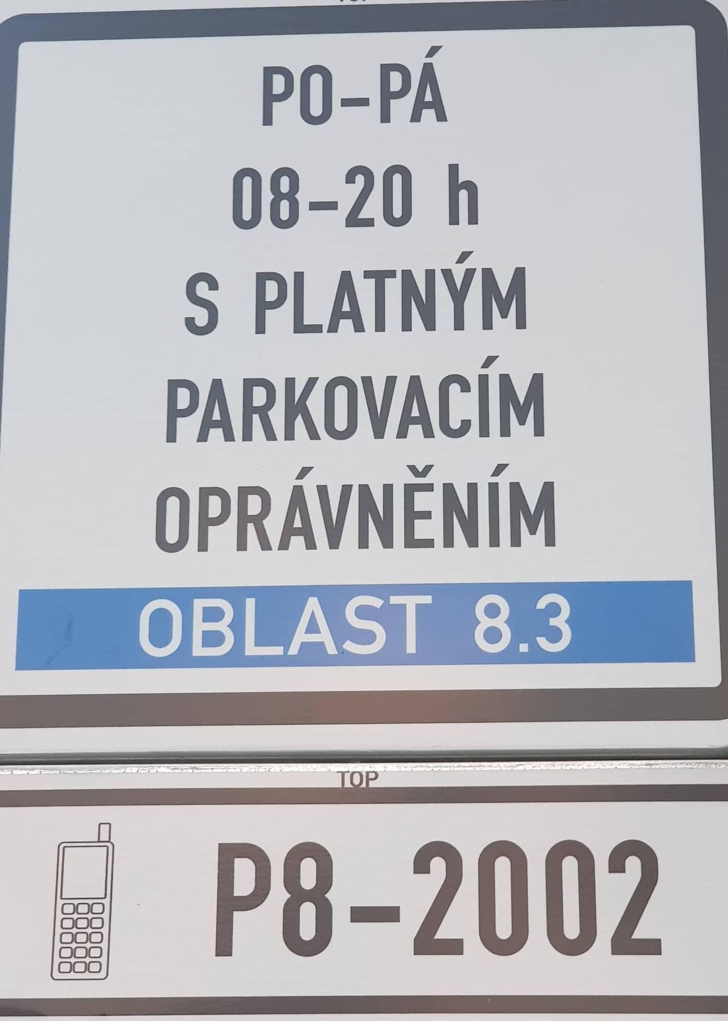 Parkovací info