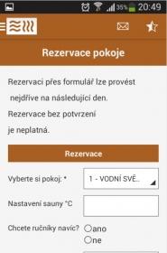 Wellness-dablice Aplikace